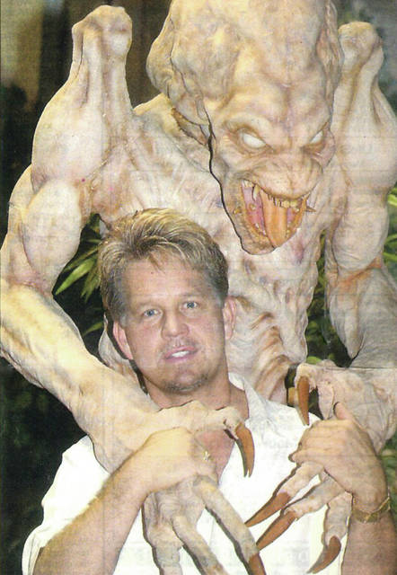 Provided photo Doug Argabright, a Troy native, has been collecting movie-quality props for several decades. His collection includes Pumpkinhead, from the horror movie franchise of the same name.