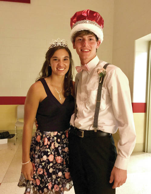 Provided photo Kristen Dickison was crowned Milton-Union Homecoming Queen at the Friday night football game and Jake Palmisano was crowned Homecoming King at the dance on Saturday evening.