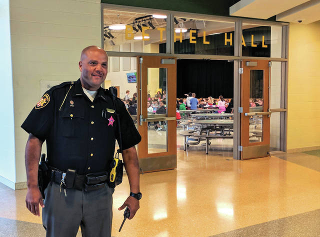 Cecilia Fox | Weekly Record Herald Miami County Sheriff's Deputy Warren Edmondson is the new school resource officer at Bethel Local Schools.