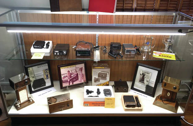 Provided photo The newest display at the Tippecanoe Historical Society Museum features various models of the FuzzBuster, which was invented by a Tipp City native.