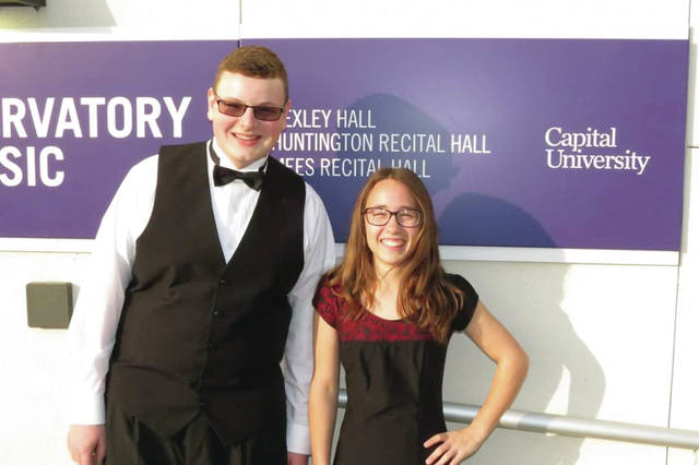 Provided photo Sophomore Gabe Ward and junior Gwen Chappell were nominated by Tecumseh High School band director Bryan Martin to be part of the Honor Band at the Capitol University Band Festival, which took place Nov. 16-17.