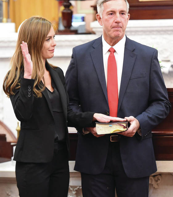 Provided photo State representative Jena Powell was sworn in to her first term on Monday.