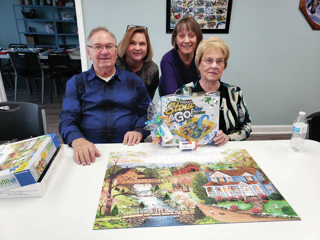 Provided photo The team of Ron Shope, Shirley Shope, Carol Myers and Jane Shope took second place in the puzzle competition.