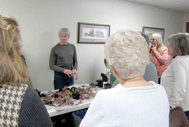 Provided photo Miami County Master Gardener volunteer Pete Holmes met with the Tipp City Garden Club to talk about dividing perennial plants.