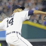 Tigers' Price shuts out Indians