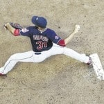 Garza pitches Brewers past Indians