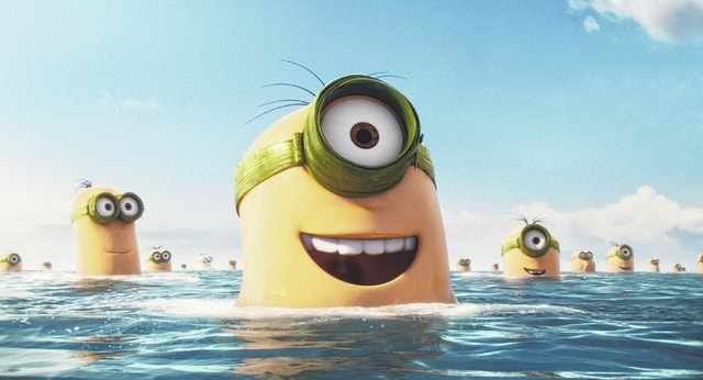 """<sub></sub>In this image released by Universal Pictures, various minion characters appear in a scene from the animated feature, """"Minions."""" (Illumination Entertainment/Universal Pictures via AP)"""