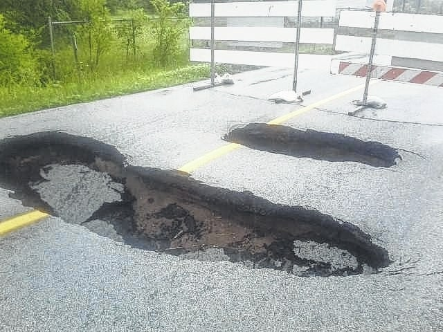Grubb Road, between state Route 117 and Fort Amanda Road, saw its culvert collapse after heavy rain and flooding in June.