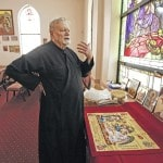 Priest protests same-sex marriage