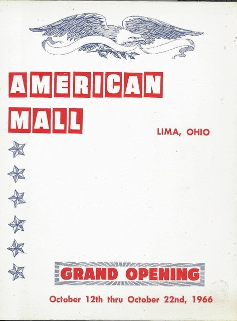 A program from the 1966 opening of the mall.