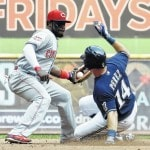 Braun, Peralta lead Brewers past Reds