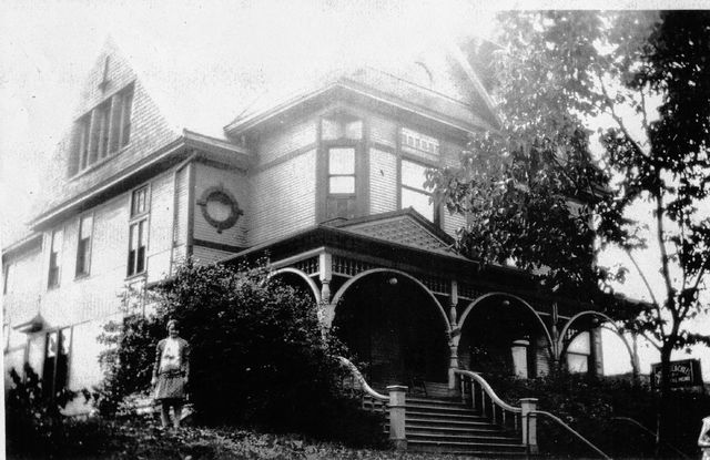 Bowersock Funeral Home, pictured in an unknown year. The Chiles family bought it in 1928 and has been involved in the funeral home business since then.