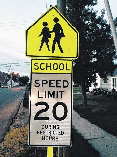 Three different types of signs exist to show school zones, but Ohio's laws are ambiguous about how big the zones are and when the hours apply. As a rule of thumb, it's wise to stay under that speed limit both 300 feet before and after the end of school property between 7 a.m. and 3:30 p.m.