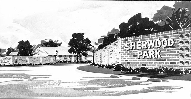 An artist's rendering of the entrance of Sherwood Park.