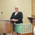 Lima 4th Ward City Council candidate Kreher speaks at Republican women's lunch