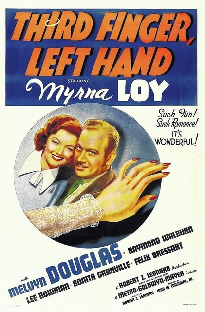 """""""Poster of Third Finger, Left Hand"""" by MGM"""