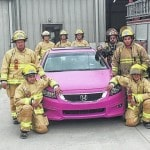 Ada man using bright-pink car to raise money for breast-cancer research