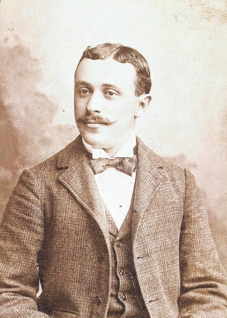 Gus Holstine, pictured in the 1890s. He came to Lima via Mansfield and jumped into the retail business. The store name was his idea.