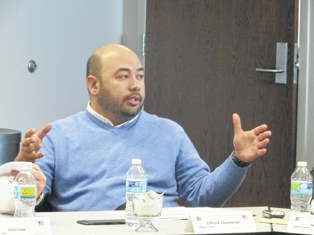 Speaker of the House Cliff Rosenberger speaks at the Task Force Lima meeting on Monday.