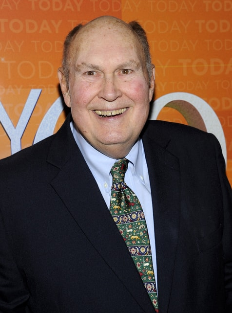 "In this 2012 file photo, former ""Today"" show weatherman Willard Scott attends the ""Today"" show 60th anniversary celebration in New York. The longtime television weatherman, a fixture on NBCs Today show for 35 years, said Friday that he is retiring. The morning show plans a tribute to his work Tuesday."