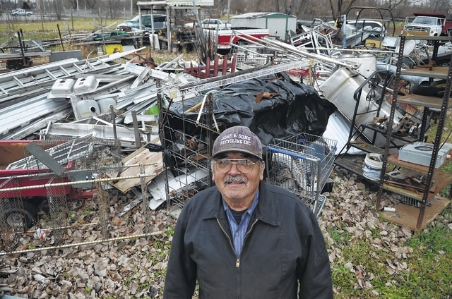 Craig J. Orosz | The Lima News Jose Maldonado stands next to his recycling yard located at 1016 s. Central Ave. in Lima.