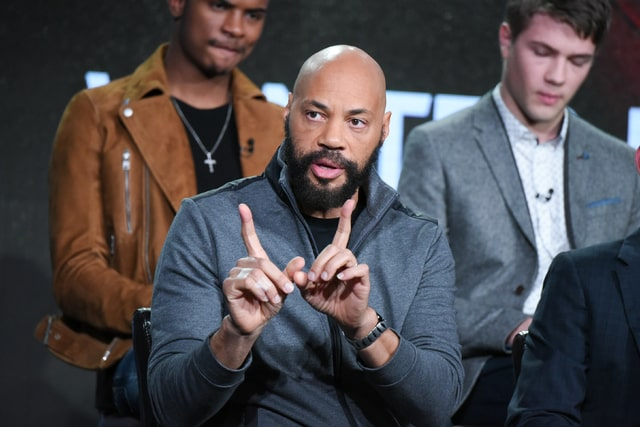 """In this Jan. 9 photo, John Ridley participates in the """"American Crime"""" panel at the ABC 2016 Winter TCA in Pasadena, Calif. Ridley, the show's creator and executive producer, won an Oscar for """"12 Years a Slave."""""""