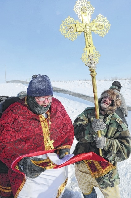 Two years ago, the Rev. Mark Hodges and members of St. Stephen the First Martyr Orthodox Church fought below-zero temperatures at Bresler Reservoir as the blessed the waters.