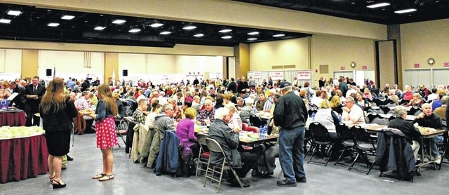 Susan Lucente | Submitted Photo This March 29 photo shows a packed house at the Veterans Memorial Civic and Convention Center for the CIAO Italian Dinner.