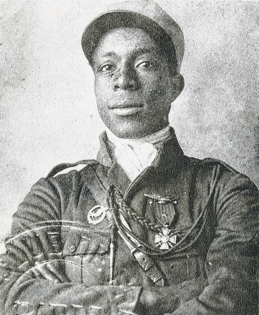 Eugene Bullard poses in a Legionnaire uniform in an unknown year. He left the United States for France, seeking the freedoms that his Martinique-born father believed France embodied.
