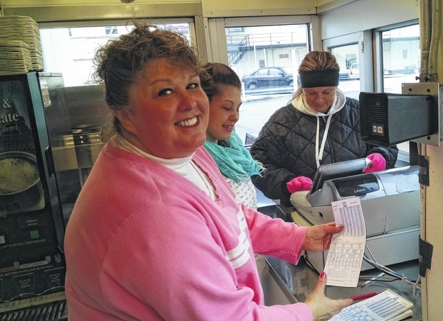 Kewpee downtown Manager Becky Rypkema has been a friendly face during the lunch hour for the past 37 years, making sure people don't got hungry.