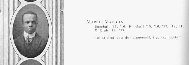 Marlie Vaughn's Central High School yearbook photo.