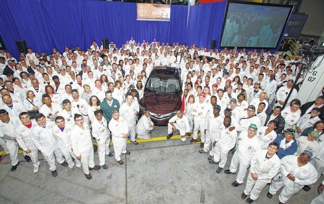 A new product was brought to the Marysville Auto Plant as the first new 2016 Acura ILX sports sedan rolled off the assembly line.