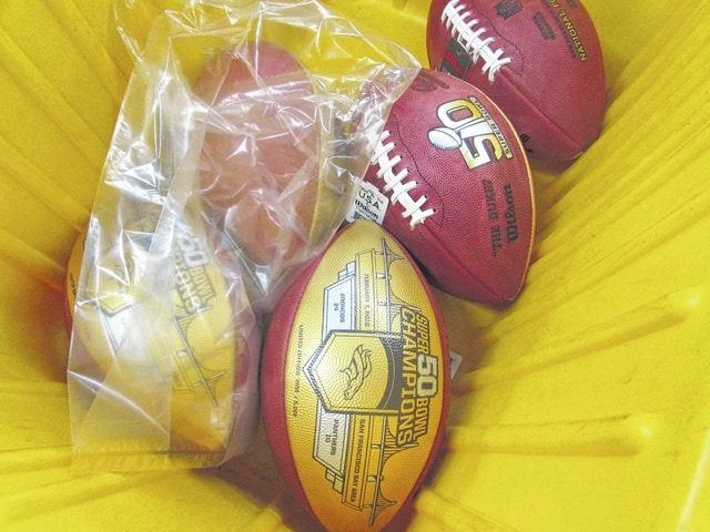 Wilson Sporting Goods' football factory in Ada will produce about 3,000 Super Bowl 50 Championship footballs commemorating the Denver Broncos' victory over the Carolina Panthers.