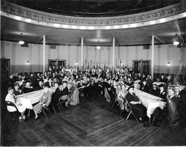 Gold star mothers, or women whose child had died in service to his country, held a dinner in 1945 and posed for this photo at Memorial Hall. The local group was officially formed in 1947, although mothers had been recognized since World War I for their sacrifice.