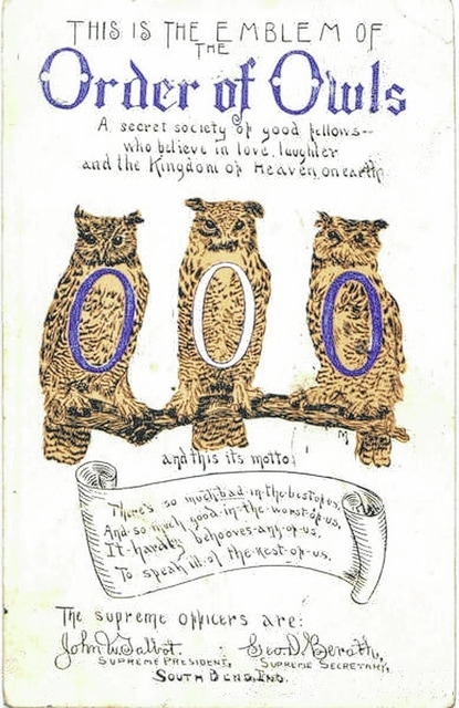 A leaflet from the Order of Owls, an organization that had a short lifespan in Lima.