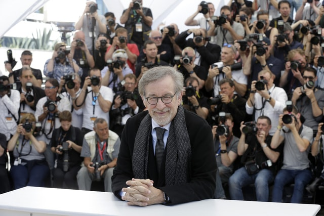 Director Steven Spielberg poses for photographers, during a photo call for the film The BFG at the 69th international film festival, Cannes, southern France, Saturday, May 14, 2016. (AP Photo/Lionel Cironneau)