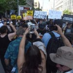 Protesters make spectacle outside RNC