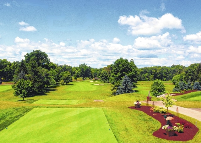The first hole at Shawnee Country Club is an example of how well groomed the private course is.