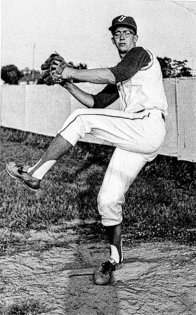 Steve  Arlin,  who  led  Ohio  State to   the   1966   College   World Series championship, warms up during his college career.