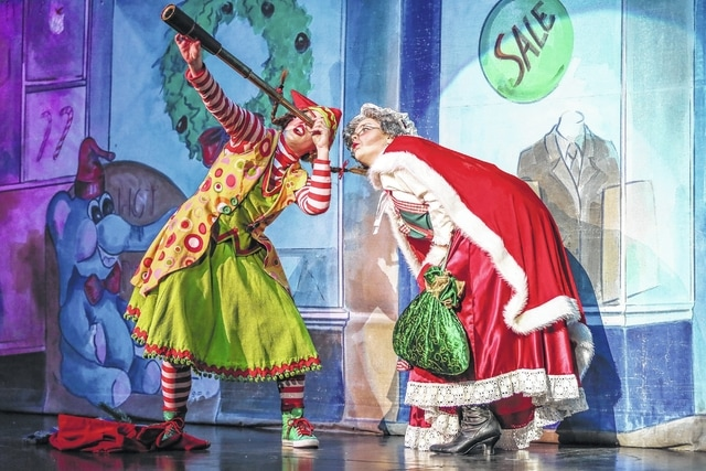 """Meredith Bergwell, """"Pixel"""" (left) and Sarah Keune as Mrs. Claus perform during a past Holiday Spectacular."""