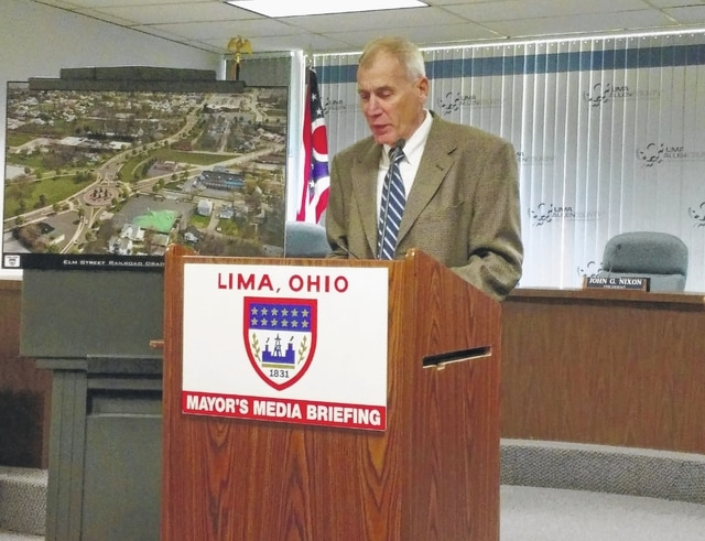 Lima Public Works Director Howard Elstro announced Wednesday the city is in line for $4 million from the Ohio Department of Transportation for the East Elm Street grade separation project.