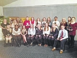 Students of Honor and Achievement Award winners sponsored by the Shawnee Optimist Club.