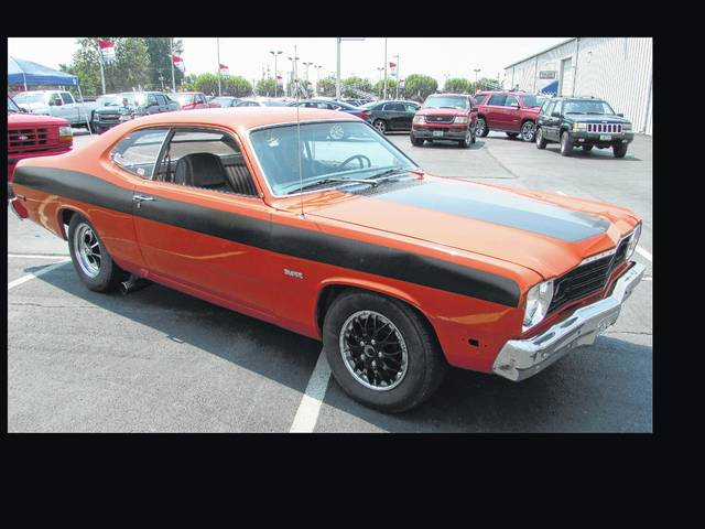 This 1974 Plymouth Duster became a father-son fix-up project for Marty Clevenger and his son, Austin.