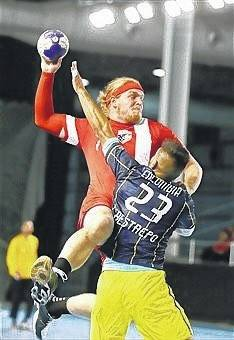 Alex Recker, a former Delphos St. John's football standout, has now taken his athletic talent to a new field as a member of the USA National Handball Team.