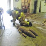 Local fire departments participate in live-burn training