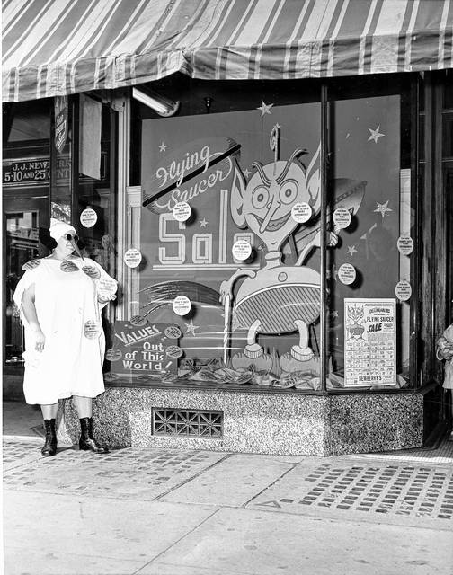 A Flying Saucer sale was advertised at the J.J. Newberry store downtown. It closed in early 1968.