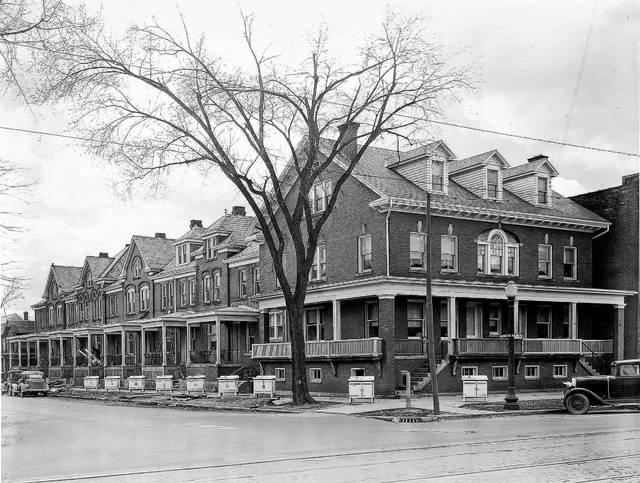 The Karns apartments, formerly at the corner of South Pierce and West Market streets, were a Matthews design.