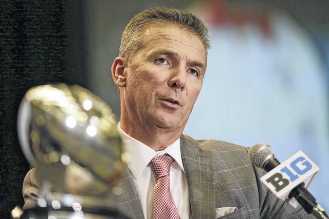 Ohio State head coach Urban Meyer speaks as part of Big Ten Football Media Days on Monday in Chicago.