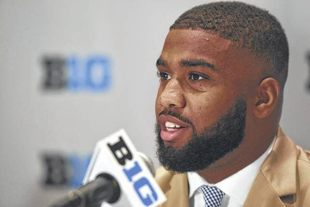 Ohio State linebacker Chris Worley, who was part of Big Ten Football Media Days in Chicago, is among seven fifth-year seniors from the Buckeyes' 2013 recruiting class in leadership roles on and off the field.