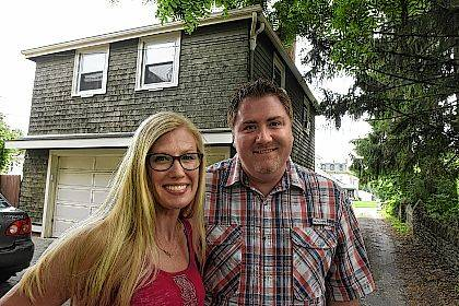 April Miller and her husband, Jason, in front of their rental, which was a carriage house behind their home in Kenton. Airbnb, a website that lists residences or rooms for short-term rental, reports that Ohio's rural communities are seeing explosive growth in short-term lodging.